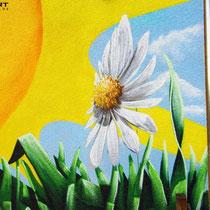 Sonnenmotiv zum Kitanamen Graffiti Gestaltung