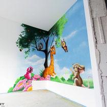 Graffiti im Kinderzimmer Preise für Bemalung in 3d