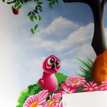 Wandtattoo gemalt auf Kinderzimmer Wand Graffiti Komik Berlin Brandenburg