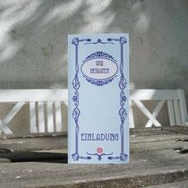 """Einladung Hochzeitskarte """"jugendstil"""""""