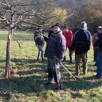 Obst- und Gartenbauverein: Baumschnittkurs Freilichtmuseum Bad Sobernheim Feb. 2016