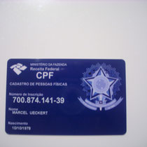 CPF - Cadastro de pessoas físicas / Registrierung  physischer Personen