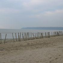 Vue de la baie du Mont-Saint-Michel depuis la plage