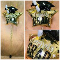 """""""Congrats GRAD"""" ca. 71 cm Folienballon unklusive Helium, Bänder und Gewicht.Preis: 25,00€"""