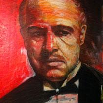 Marlon Brando - 76 cm x 60 cm , Acryl, Tusche, Pastell