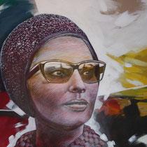 Sophia Loren - 140 cm x 100 cm , Acryl , Tusche