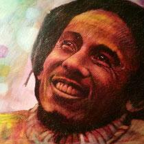 Bob Marley - 150 cm x 100 cm , Acryl, Tusche, Pastell