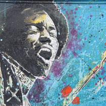Jimmi Hendrix - 150 cm - 100 cm , Acryl
