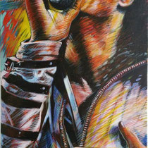 Michael Jackson - 120 cm x 55 cm , Acryl , Tusche