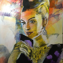 Anne Hathoway - 140 cm x 100 cm , Acryl , Tusche