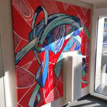 Wandgestaltung Firma Linutronix - Uhldigen