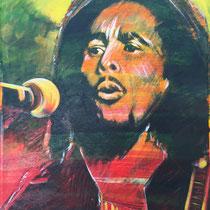 Bob Marley - 76 cm x 60 cm , Acryl , Tusche