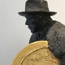 """Der """"Sonnenwagen"""", Bronze m. Blattgold, 48 x 58"""