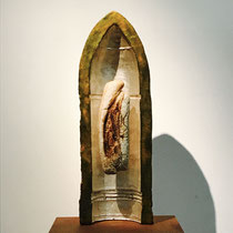 66 x 23cm Gusseisen, Blattsilber und Brot