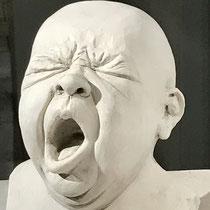 Säuglingskopf, Ton 16,5 x 13