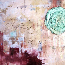 Wine, mixed media on canvas, 100 x 80 cm, 2010 - SOLD