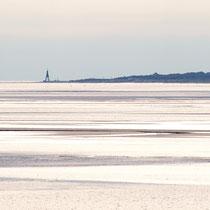 Auf dem Rückweg sieht man in der Ferne die Kugelbake von Cuxhaven