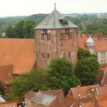 St. Wilhade-Kirche vom Kirchturm der St. Cosmae fotografiert