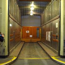 Blick in einen Fahrstuhlkabine