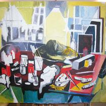 """Pintor dormido"", 146 x 114 cm. 2008"
