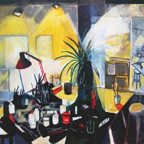"""""""Estudio nocturno, 146x114cm., téc. mixta sobre tela, 2006"""