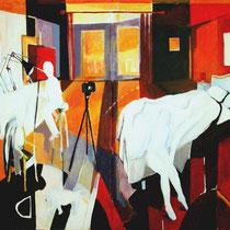 """""""Estudio de verano en la habitación"""" 228x146cm. 2006"""