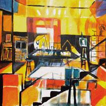 """""""Estudio de verano en el sótano"""". 146 x114 cm. 2006"""