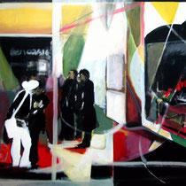 """Fin de inauguración a las 8"" 146x97 cm. 2006"