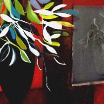 """""""Estudio con jarrón negro"""". 146x114cm. 2006"""