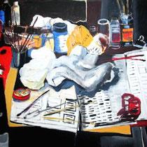 """""""Mesa de pintor"""".  146x114cm- 2008"""