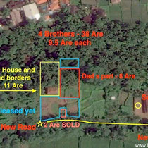 Land for sale in Ubud, Bali