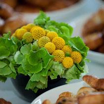 Blumen Restauranttisch