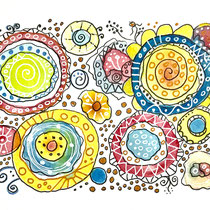 Funny Art, Kringel, Aquarell von Ursula Konder, UKo-Art