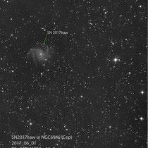 """Supernovae SN2017eaw, Teleskop BorenSimon 8""""f3.6, Kamera ATIK460EXc+LPS-D1"""