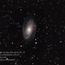 "M81 (UMa), Teleskop BorenSimon 8""f3.6, Kamera CANON 700D (mod)+LPS-D1"