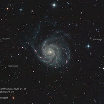 "M101=NGC5457 ""Feuerrad-Galxie"" (UMa), Teleskop BorenSimon 8""f3.6, Kamera ATIK460EXc+LPS-D1"