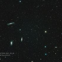 Leo-Triplet mit NGC3593, Teleskop 86SDQ, Kamera ZWO ASI2600MC Pro+LPS-D1
