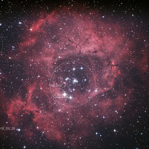 "M27 (Vul), Teleskop BorenSimon 8""f3.6, Kamera CANON 700D (mod)+LPS-D1"