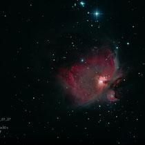 """M42 (Orion), Teleskop BorenSimon 8""""f3.6, Kamera CANON 700D (mod)+LPS-D1"""