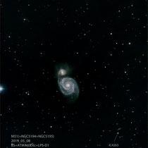"M51 (CVn), Teleskop BorenSimon 8""f3.6, Kamera CANON 700D (mod)+LPS-D1"