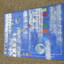 confins. vue de côté1 - daluz galego peinture tableau abstrait abstraction