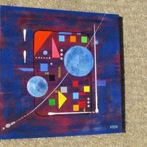 centrale. vue de côté2 - daluz galego tableau abstrait abstraction