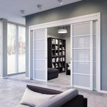 двери раздвижные белые
