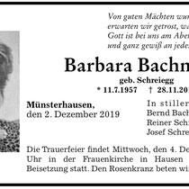 Bärbel Bachmann - leider für immer von uns gegangen