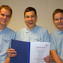 TF 2014 - Neu dabei Technikteam: Benedikt Bergmiller, Markus Hafner und Tobias Hafner