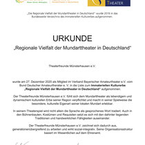 Urkunde - Immaterielles Kulturerbe