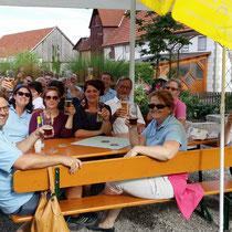 TF 2015 - Einkehr im Biergarten in Hagenried