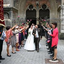 TF 2013 - Hochzeit Caro und Konrad König geb. Müller vor dem Ulmer Münster