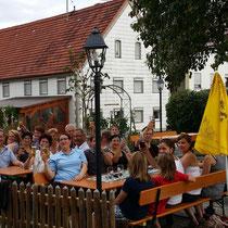 TF 2014 - Einkehr im Biergarten in Hagenried