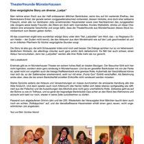 "Theaterspiel 2013 - ""Ladysitter"" - Theaterspiegel Bericht"